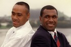 Jonah Lomu and Joeli Vidiri in 1998. Both men were diagnosed with nephrotic syndrome. Photo / Getty Images
