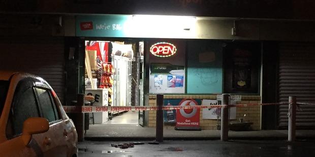 Loading Scene of the robbery. Photo / Daniel Hines