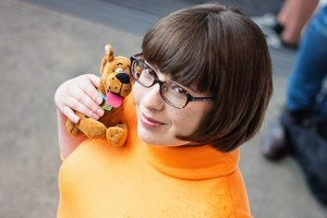 Jess Woodward's cosplay outfit of choice is Velma from animated series Scooby Doo.