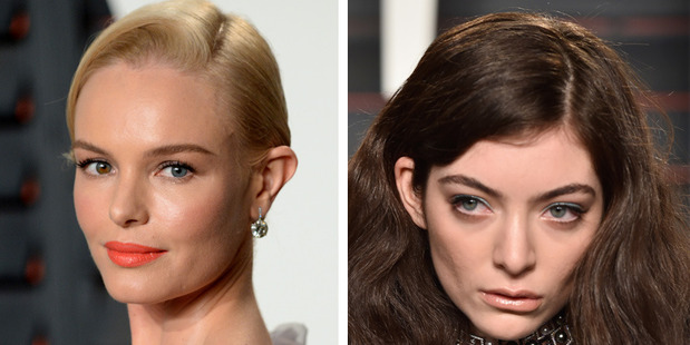 Kate Bosworth and Lorde chose makeup looks to offset their outfits. Photo / Getty