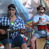 Johnie Pedro and Paul Godden, who make up two-thirds of the JPG trio, are regular entertainers at the market. PHOTO / PETER DE GRAAF
