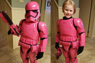 Four-year-old Autumn was 'tickled pink' with her outfit. Photo / Jim Brock, Facebook