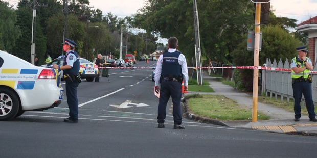 There was a heavy police presence in Papatoetoe yesterday. Photo / Daniel Hines