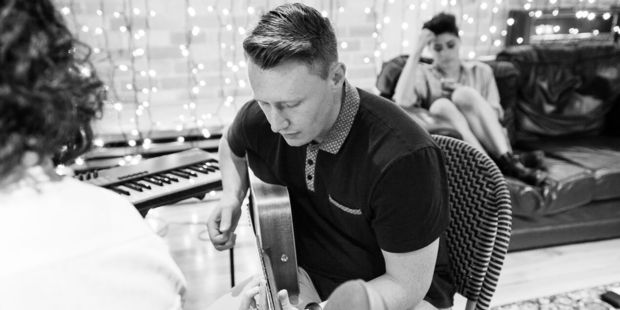 Songhub songwriting sessions at Roundhead Studios. Photo / Amanda Ratcliffe