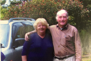 Fatal crash victim Maureen Joan Davies and her husband, and now widow, Stan. Photo / Supplied