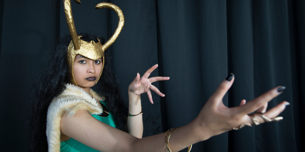 Lady Loki Bernadette Dimson poses for a photograph. Photo / Nick Reed