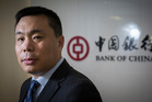 David Wang, chief executive of the Bank of China New Zealand. Photo /  Greg Bowker