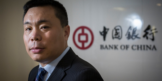David Wang, chief executive of the Bank of China New Zealand. Photo /  Greg Bowker
