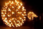 In Carabosse's Fire Garden, you can wander amongst great balls of fire in the Domain. Photo / Supplied