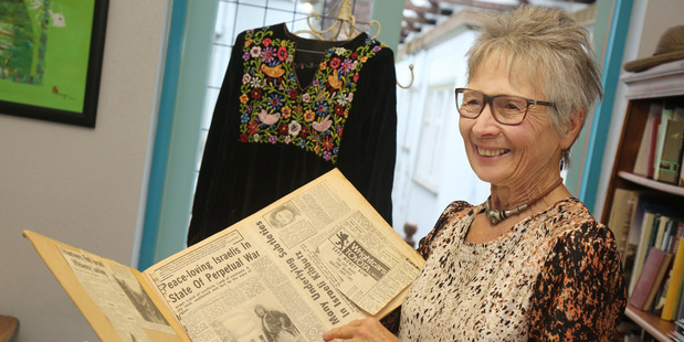 MEMORIES: Penny Robinson with some of the article she wrote while living and working on a kibbutz in Israel in 1976.