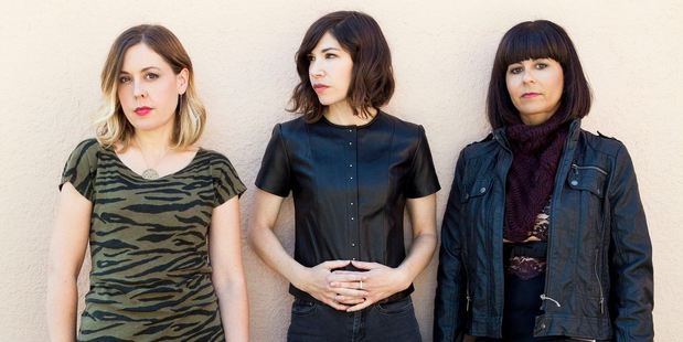 Sleater-Kinney are, from left, Corin Tucker, Carrie Brownstein and Janet Weiss. Photo / Supplied