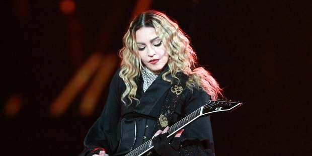 Madonna performs during the Rebel Heart Tour 2016 in Atlanta. Photo / AP