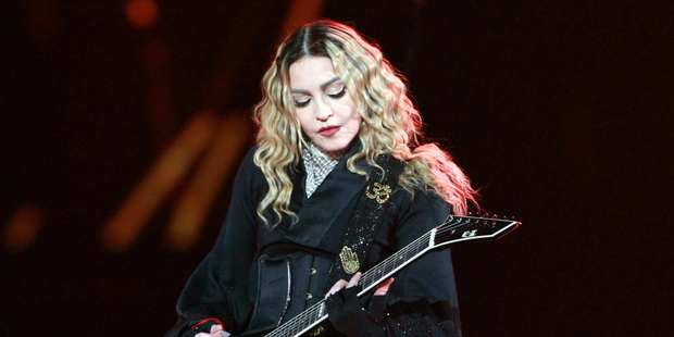 Madonna has touched down in Auckland ahead of her Rebel Heart Tour performances this weekend.