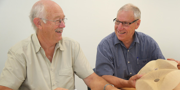 SUPPORT NEEDED: Regional Velodrome Roofing Team members Leigh Grant and Bob Smith say the group are now seeking sponsors to come up with the $5.8 million needed to roof the Whanganui velodrome.