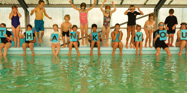 SWIM SCHOOL: Pupils in National Park are grateful their pool is back in action.