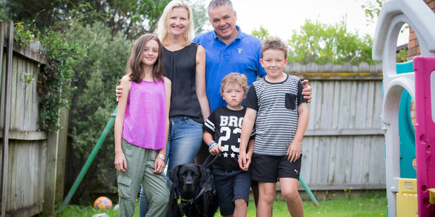 Loading The Stephenson family of Red Beach all love Tom's assistance dog Libby, says Mrs Stephenson. Photo / Michael Craig