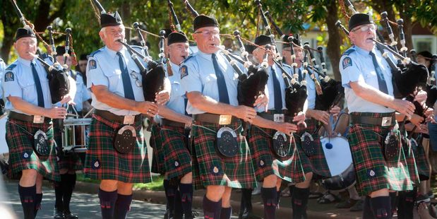 PIPES: The Auckland police pipe band performed at the Central North Island Highland Pipe Band Competition over the weekend. PHOTO/BEN FRASER