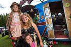 Travelling with A Gypsy Extravaganza were (from left) Lettie, 7, Shakera Mackereth and Koco, 5. Photo / Ben Fraser