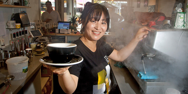 Loading Shine Kim from Dry Dock Cake made the semifinals for the New Zealand Barista Championships over the weekend. Photo / Andrew Warner