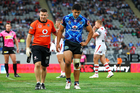 Warriors' Ben Henry comes off with an injury. Photo / Photosport