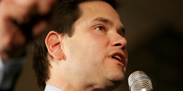 Presidential candidate Senator Marco Rubio speaks during his campaign. Photo / AP