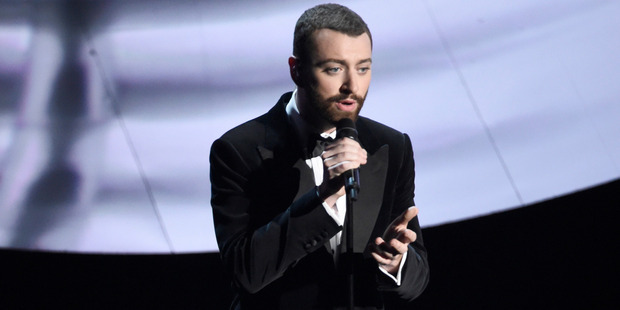 Sam Smith performs Writings on the Wall that won for best original song from Spectre at the Oscars. Photo / AP