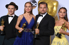 Mark Rylance, Brie Larson, Leonardo DiCaprio and Alicia Vikander. Photo / AP