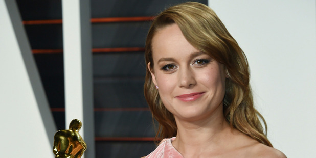Best Actress winner Brie Larson didn't have a late night after her Oscars win for Room. Photo / AP