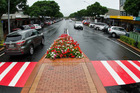 One of four new Green Corridor pedestrian crossings on Tutanekai St, Rotorua. Photo / Stephen Parker