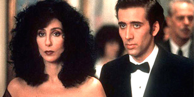 Cher and Nicolas Cage in Moonstruck.