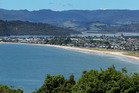 General view looking across Mercury Bay towards Buffalo Beach and the settlement of Whitianga on the Coromandel Peninsula. Photo:/ Alan Gibson