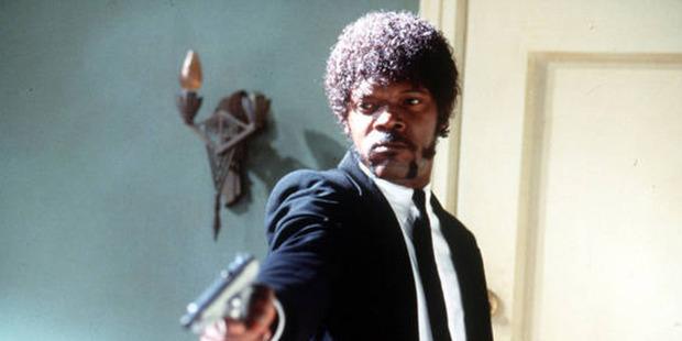 Samuel L Jackson in Pulp Fiction.