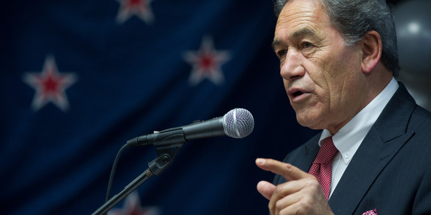 Winston Peters spoke at a meeting in Whangarei yesterday in which he said restrictions should be placed on people living in the country as residents. Photo / Getty Images