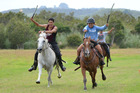 Action from last year's Brumby race day in Rawene. PHOTO / Debbie Beadle