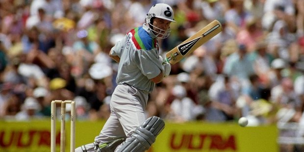 Loading Martin Crowe of New Zealand on his way to an unbeaten century in the World Cup match against Australia at Eden Park in Auckland, New Zealand. Photo / Getty Images