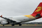 The Beijing Capital Airlines plane which has set the rumour mill abuzz. Photo/Paul Taylor