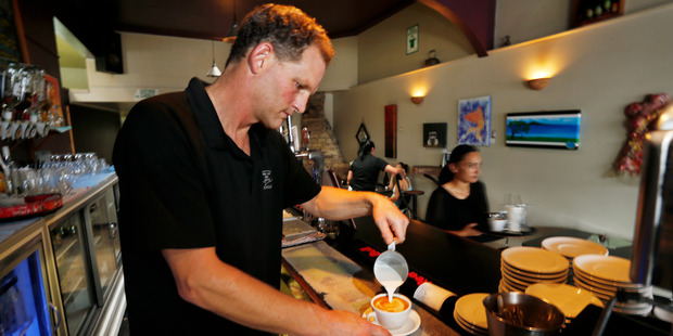 TOP UP: Dargaville cafe Blah Blah Blah owner Mark Willy said there has been less custom from field days visitors than he expected this year. PHOTO/JOHN STONE