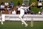 Martin Crowe plays a pull shot, test match cricket, New Zealand Black Caps v England, 1992/93 season. Photo / Photosport