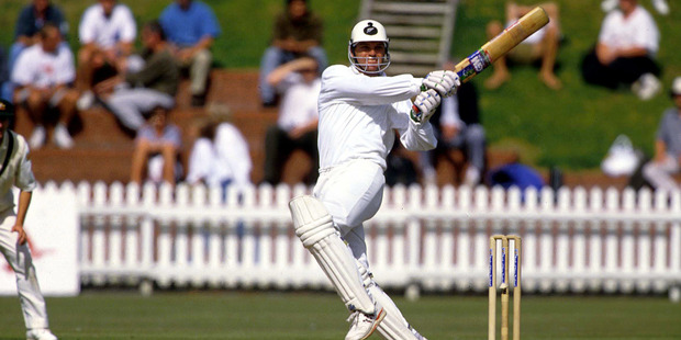 Loading Martin Crowe plays a pull shot, test match cricket, New Zealand Black Caps v England, 1992/93 season. Photo / Photosport