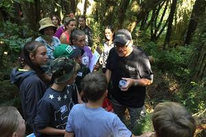"The ""Bug Man"", Ruud Kleinpaste, works with children during Pukaka Mt Bruce's BioBlitz. PHOTO/SUPPLIED"