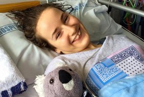 Wairarapa teenager Grace Yeats has won back her ability to communicate after waking from emergency surgery last week.