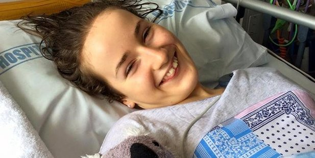 Wairarapa teenager Grace Yeats has won back her ability to communicate after waking from emergency surgery last week at Starship Hospital in Auckland. PHOTO/FACEBOOK