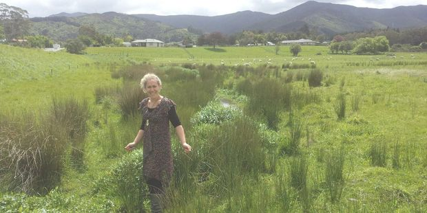 Featherston Youth Programme leader Reanne Tawharu is pleased to receive funding from Greater Wellington Regional Council for a wetland planting project. PHOTO/SUPPLIED