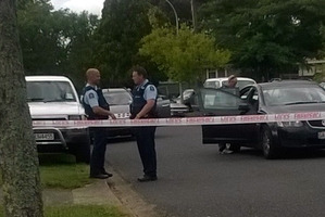 Police at the scene in Kawerau. Photo/Katee Shanks