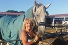 Sandy Stead, 52, of Taupo, is back competing at Farmlands Horse of the Year after an 11-year break. She is standing with her horse Maximus Meridus.
