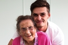 For about a year the 23-year-old has been the fulltime carer for his 93-year-old nana, Katie Thomas, and this week everyone got a sneak peek into their morning routine. Photo / Martin Hunter