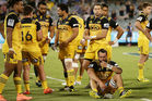 The Hurricanes during their loss to the Brumbies. Photo / Getty