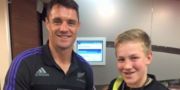 Dan Carter paid tribute to Jonty Carran who passed away on Saturday night. Photo / Dan Carter Facebook