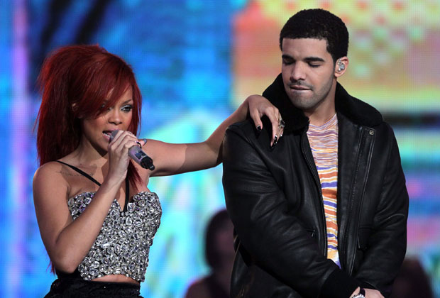 Singer Rihanna and rapper Drake perform during the 2011 NBA All-Star game. Photo / Getty Images