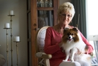 Joan Proud says she hopes Chloe lives a long time as her village prohibits replacing pets after they die. Photo / Nick Reed